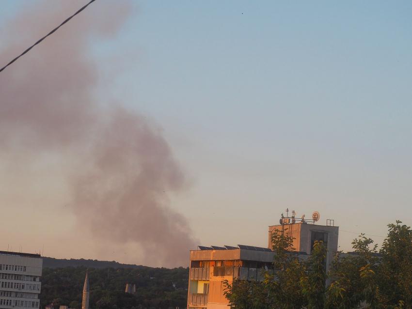Пожар на регионалното депо за отпадъци в Разград