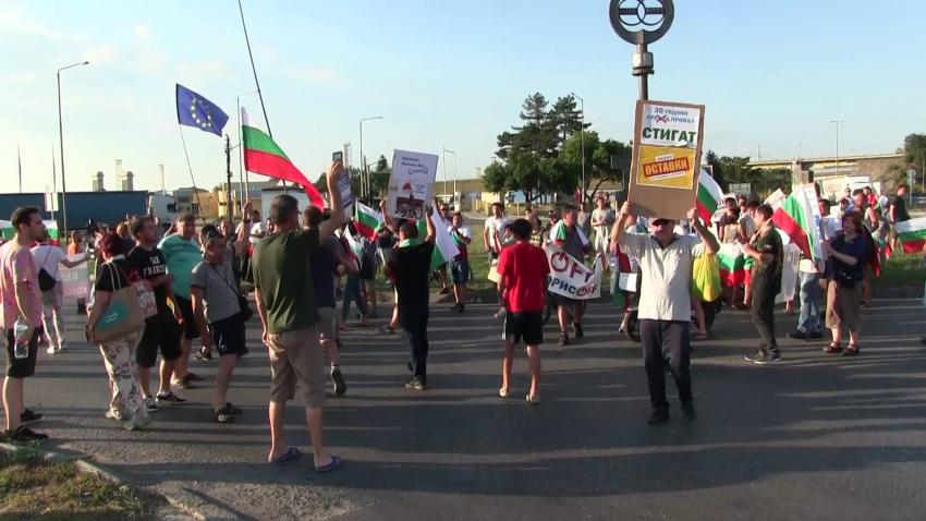 Ден 20 на протестите в Русе: Блокираха движението в района на Дунав мост /ВИДЕО/