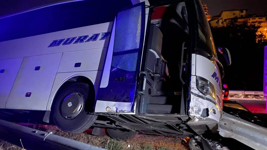 ВИДЕО: Катастрофа между автобус и автомобил във Велико Търново се размина без пострадали