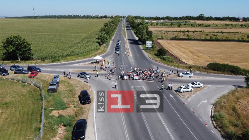 """""""Добре дошли на Марс"""": Протестиращи пак блокираха пътя Русе - Варна /ВИДЕО и СНИМКИ/"""