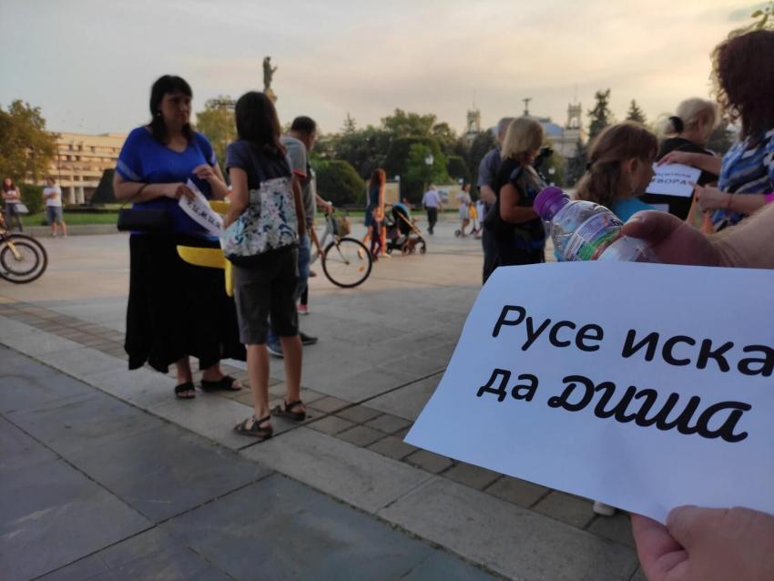 Русенци отново протестираха за чист въздух и поискаха оставката на екоминистъра /ВИДЕО/