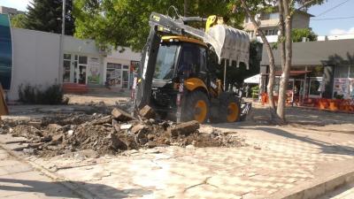 ВИДЕО: Започна ремонтът на площада пред многопрофилната болница в Търговище